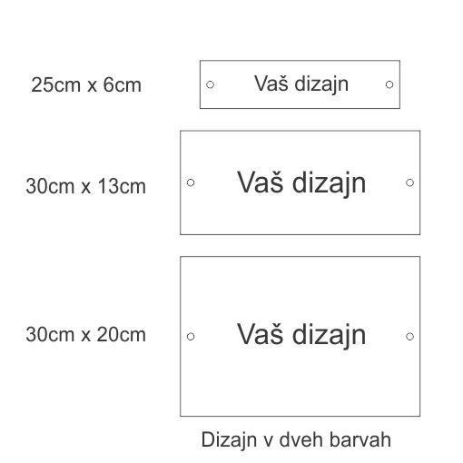 Tablica z vašim dizajnom. Tablica z imenom, tabla z imenom oziroma napisom