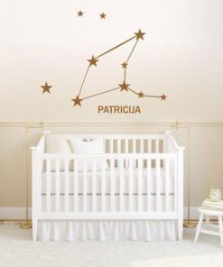 Primer izgleda otroške stenske nalepke horoskop devica z imenom patricija