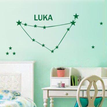 Primer otroške stenske nalepke horoskop z imenom Luka.