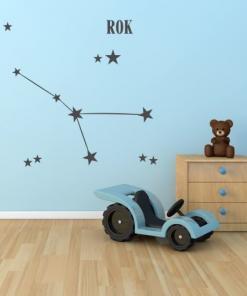 primer izgleda otroške stenske nalepke horoskop rak.