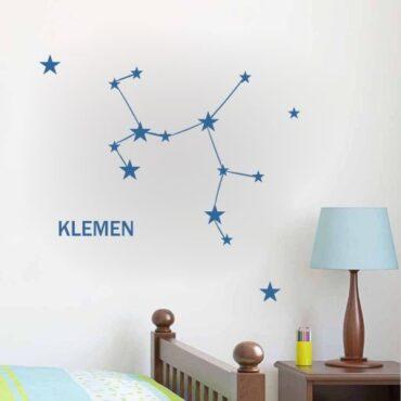Primer otroške stenske nalepke horoskop strelec z imenom Klemen.