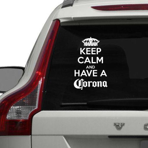 Avto moto nalepka Keep calm and have a Corona