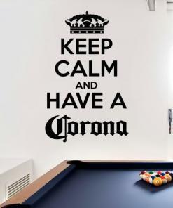 Nalepka Keep calm and have a corona