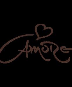 Outlet stenska nalepka Amore 120cm x 61cm rjave barve za steno v dnevni sobi, spalnici