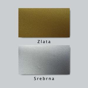Primer zlate in srebrne folije za stenske nalepke