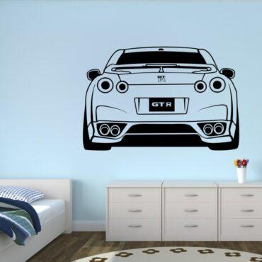 Primer družinske stenske nalepke Nissan GT-R