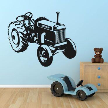 Stenska nalepka Traktor Steyr oldtimer