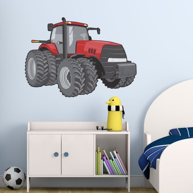 velik traktor - nalepka za otroško sobo