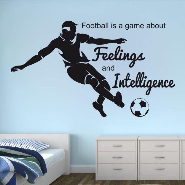 Stenska nalepka Football is a game about feelings and intelligence